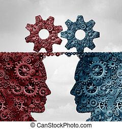 partenaires, concept, business