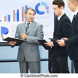 Partenaires, conduite,  Business, réussi,  Présentations, homme