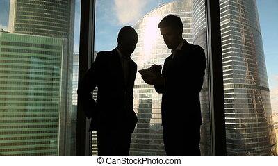 partenaires, entiers, business, multiculturel, longueur,...