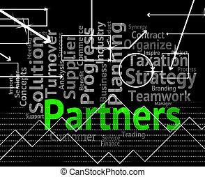 partenaires, groupe, fonctionnement, moyens, ensemble, mot