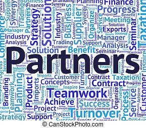 partenaires, mot, fonctionnement, moyens, ensemble, coopération