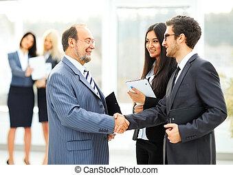 Partenaires, réunion,  Business