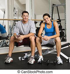partenaires, séance entraînement