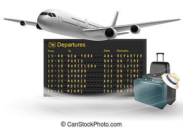 partenze, asse, viaggiare, borse, meccanico