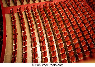 parterre, ópera, estado, viena, vacío, auditorium., sala de ...
