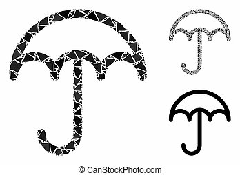 partes, ícone, raggy, guarda-chuva, mosaico