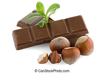 partes, chocolate