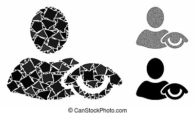 partes, mosaico, vista, abrupto, ícone