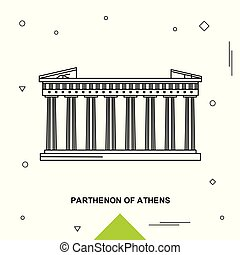 parthenon, の, アテネ