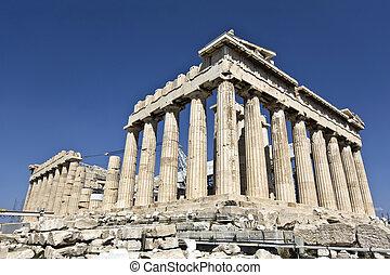 parthenon, acropole, temple, o