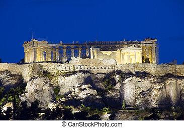 parthenon acropolis reconstruction athens greece - ancient...