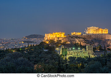Parthenon and Herodium construction in Acropolis Hill in ...