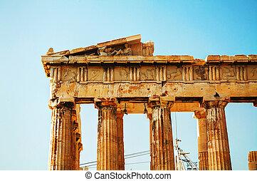 Parthenon at Acropolis in Athens, Greece - Parthenon close ...