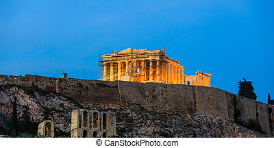 Parthenon at Acropolis of Athens, Greece