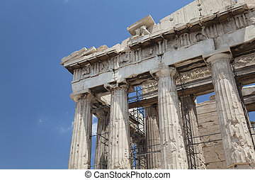 Parthenon, Athens, Greece - The Temple of Athena at the...