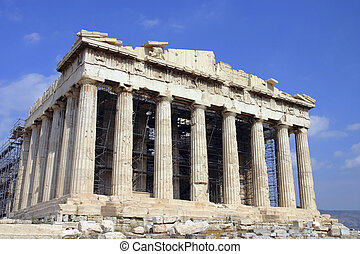 Parthenon, The Temple of Athena at the Acropolis of Athens