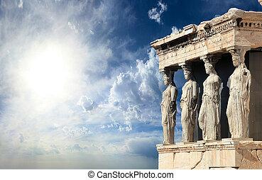 parthenon, en, acrópolis