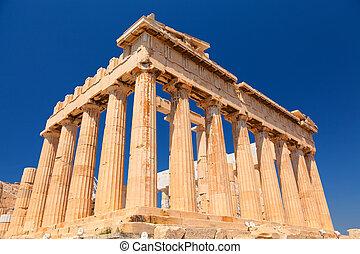 parthenon, en, acrópolis, atenas