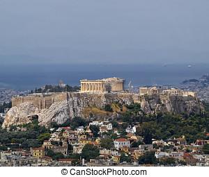 parthenon, halánték, fellegvár, athéné, görögország