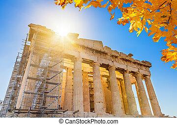 Parthenon in Acropolis, Athens, Greece