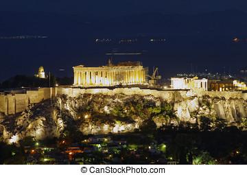 Acropolis of Athens, Greece - Parthenon on Acropolis of...