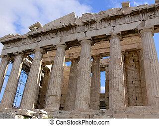 parthenon - Greece: Parthenon close up in the acropolis