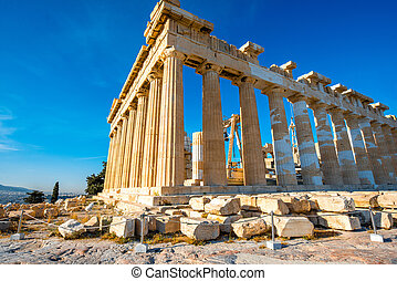 Parthenon temple in Acropolis in Athens, Greece