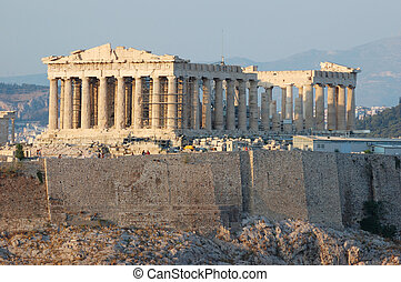 Parthenon temple in Greece,the place where democracy was...