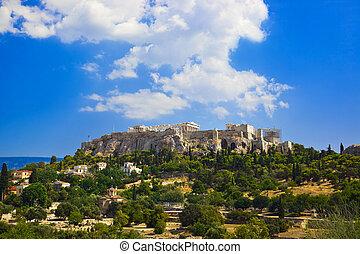 parthenon, templo, en, acrópolis, en, atenas, grecia