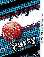 parti, affisch