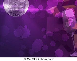parti, bakgrund, violett