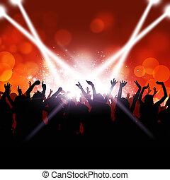 parti, folkmassa