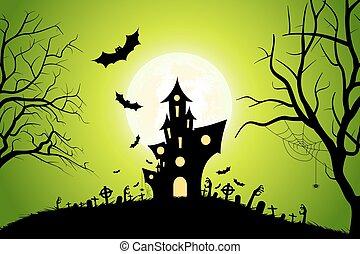 parti, halloween, bakgrund