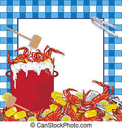 parti, krabba, böld, inbjudan