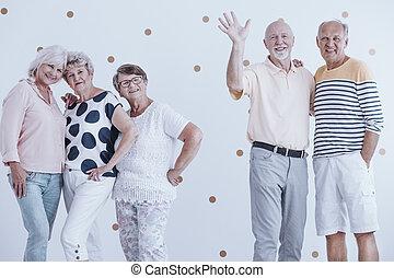 parti, vänner, äldre