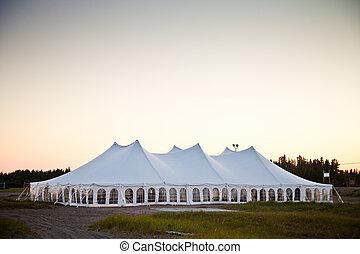 partia, biały, namiot, wypadek, albo