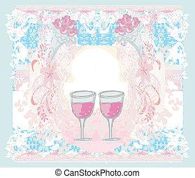 partia, cocktail, karta, zaproszenie
