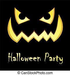 partia, halloween, afisz