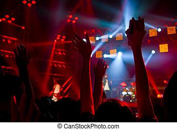 partia, koncert, dyskoteka