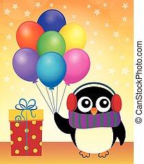 partia, pingwin, temat, wizerunek