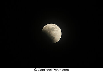 Partial before total lunar eclipse 2015, also known as blood...