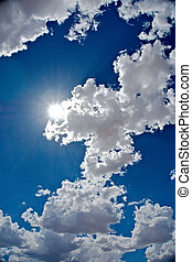 Partial cloudy sky