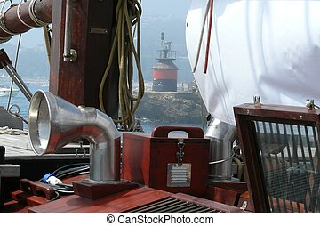 Partial detail of a schooner equipment