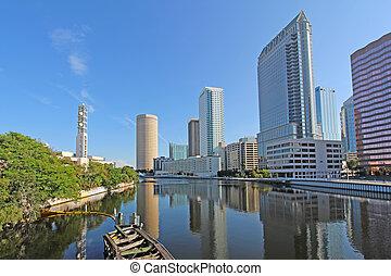 Partial skyline of Tampa, Florida
