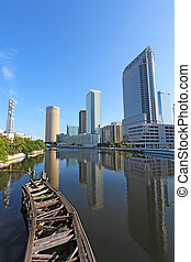 Partial skyline of Tampa, Florida vertical