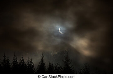 Partial Solar Eclipse - The partial solar eclipse of the...