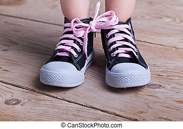 Partial success - child tied two shoes together - Partial...