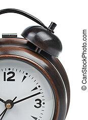 Partial view of alarm clock