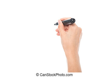 hand holding marker