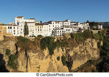 Partial view of the city of Ronda, monumental town, Malaga, Spain